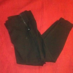 Black Zara Lace Zipper tights XL